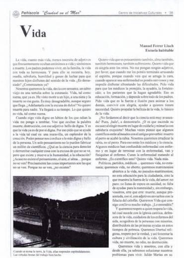 Articulo en la Revisa de Peñíscola